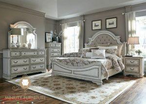 kamar tidur mewah duco putih kombinasi