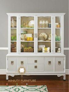 lemari pajangan minimalis klasik