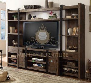 lemari tv mewah model klasik