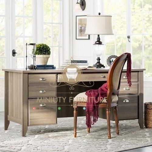 meja kantor, meja kerja kantor, set meja kantor mewah, meja kerja mewah klasik, set meja mewah, meja kerja kantor duco putih, mebel jepara, furniture jepara, miniuty furniture
