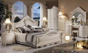 set kamar mewah duco putih modern