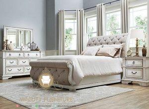 set kamar tidur duco putih clasic modern
