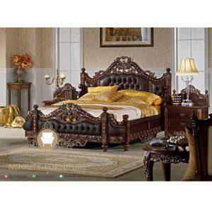 set kamar tidur klasik mewah terbaru jepara
