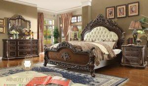 set kamar tidur ukir mewah klasik