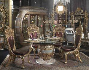 set meja makan ukiran klasik mewah modern