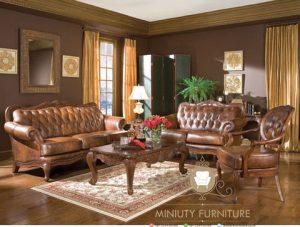 set sofa tamu ukir mewah klasik