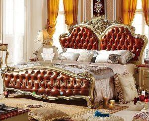 tempat tidur mewah ukiran modern jepara