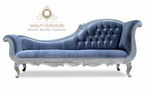 Sofa biru klasik terbaru