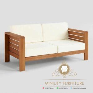 bangku sofa minimalis kayu jati modern