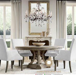 dining table klasik mewah model terbaru