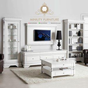 lemari hias pajangan tv model mewah terbaru