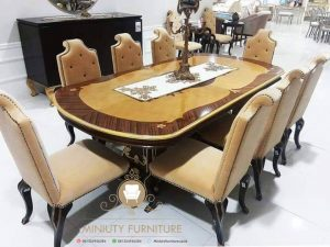 set dining table mewah model terbaru