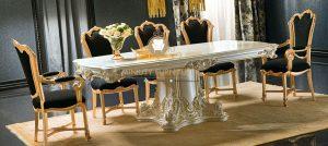 set meja makan apollonia mewah terbaru