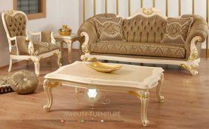 set sofa tamu mewah klasik model terbaru