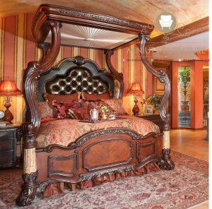 tempat tidur mewah model italia kanopi