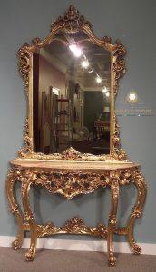 cermin hias mewah ukiran kayu jati jepara modern