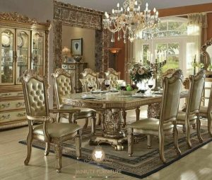 dining room set luxury ukiran klasik