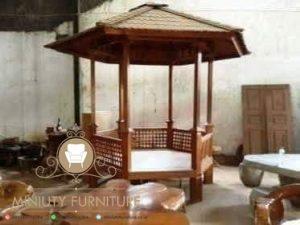gazebo kayu jati unik model japan