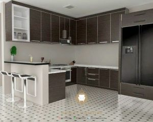 interior furniture kitchen set hpl model minimalis