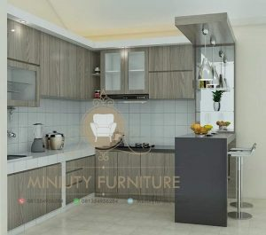interior kitchen set mini bar minimalis modern
