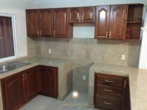 kitchen set kayu jati jepara klasik