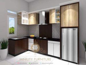 kitchen set minimalis modern HPL