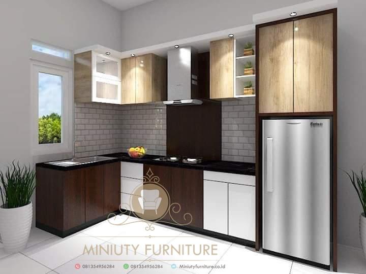 Kitchen Set Minimalis Modern Hpl Miniuty Furniture