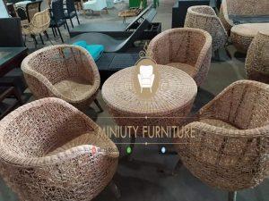 set coffe table unik rotan