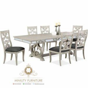 set dinning table klasik mewah modern