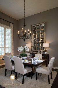 set meja makan minimalis elegan model terbaru