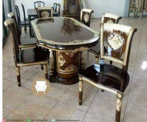 set meja makan salina blok