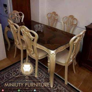 set meja makan unik klasik modern