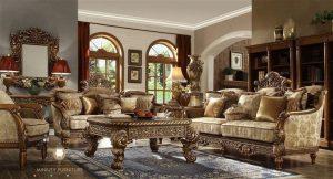 set sofa ruang tamu ukir mewah kayu jepara modern