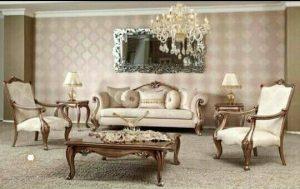 set sofa tamu mewah modern terbaru