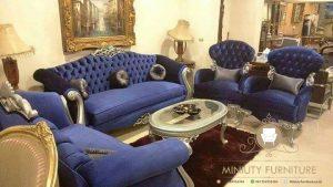 sofa tamu biru model terbaru