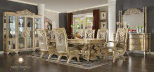 dining room set luxury eropa style terbaru