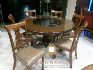 dining table bulat klasik