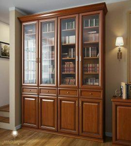 lemari hias rak buku kayu jati
