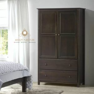 lemari hotel minimalis kayu jati