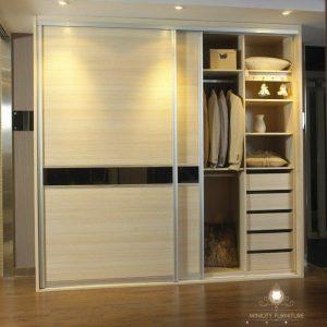 lemari pakaian minimalis modern HPL