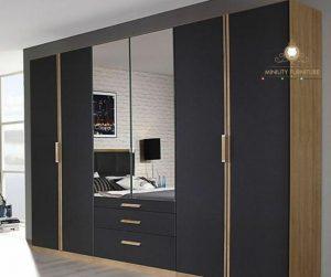 lemari pakaian minimalis multiplek HPL