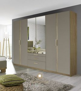 lemari pakaian minimalis pintu kaca