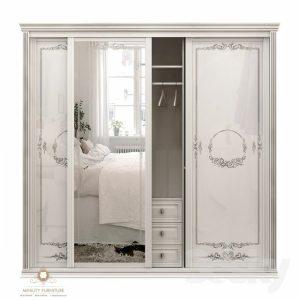 lemari pakaian modern duco putih