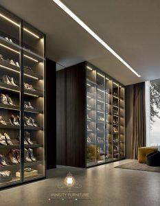 lemari rak sepatu mewah modern