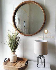 mebel cermin hias dinding bulet terbaru