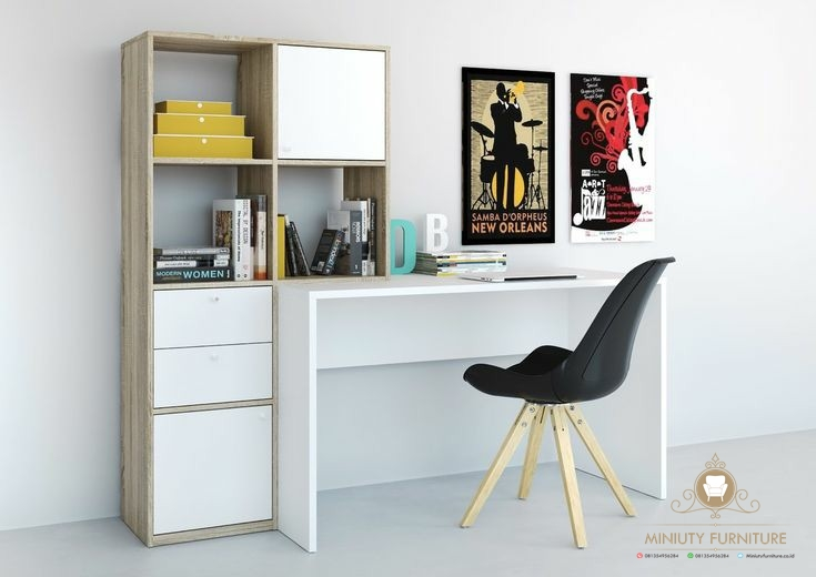 Meja Belajar Anak Minimalis Modern Miniuty Furniture
