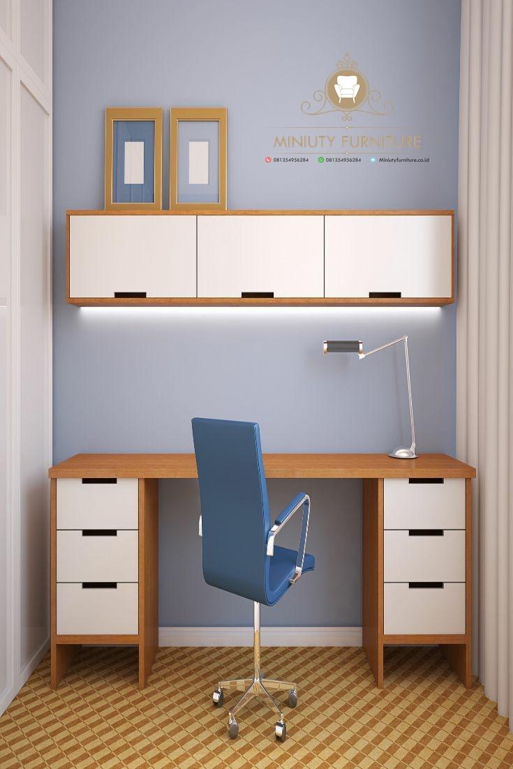 Meja Belajar Minimalis Modern Terbaru Miniuty Furniture