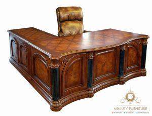 meja kantor klasik modern model terbaru