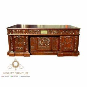 meja kantor ukir modern kayu jati