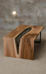 meja kerja kantor kayu model terbaru jepara
